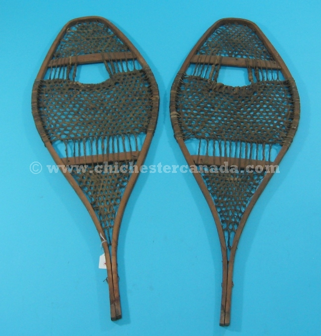 Used Snowshoes Or Old Wood Snowshoes Or Decorative Wooden