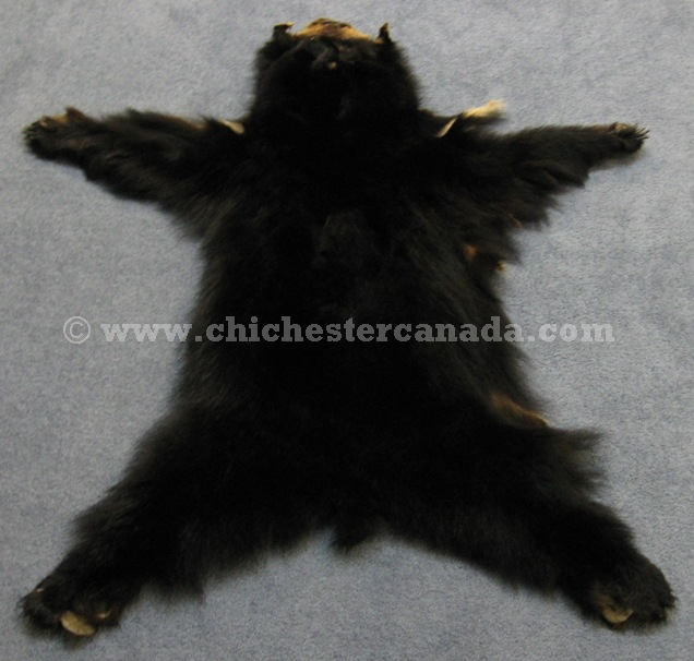 Bear Skin Rug And Fireplace Black Bear Skins (tann...